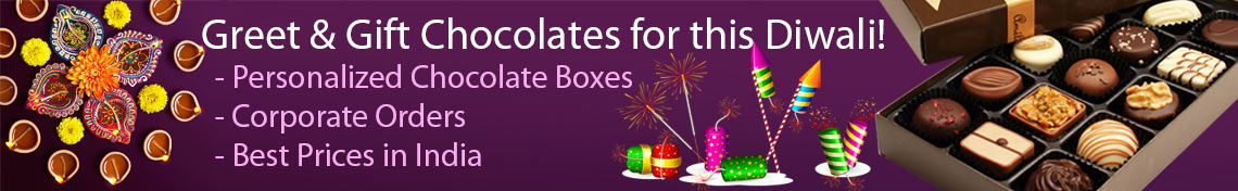 Send unique chocolate gifts for this Diwali festvail, free and quick delivery all over India