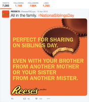 Siblings day tweet