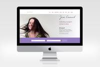 Jane cormack website mockup