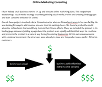 Online marketing consulting and upsells