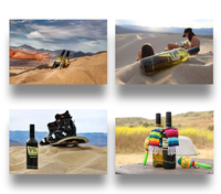 Outdoor vino product photography