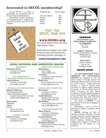 Secol fall2006 newsletter