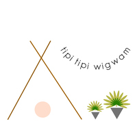 Tipi tipi wigwam logo