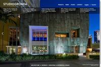 Studiogronda homepage wordpress website design