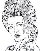Lara mesanza burke geometric drawing geisha 550x700