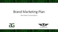 Brand marketing plan cover