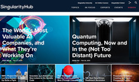 Singhub homepage ai startups story