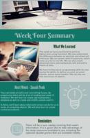 Weekly summary example