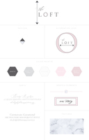 The loft   branding style board