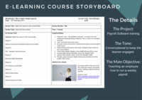 E learning storyboard  run a basic weekly payroll 1