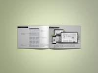A4 landscape booklet mockup   free version
