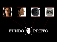 Fundo preto   black background logo concept