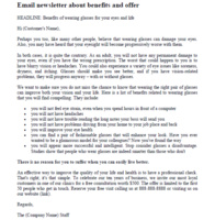 Email newsletter sample