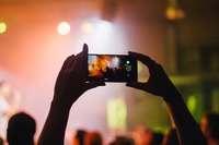Smartphone filming live concert