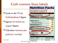 Carbohydrate counting for insulin dose adjustment 15 638