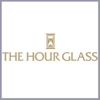 The hour glass logo square grey