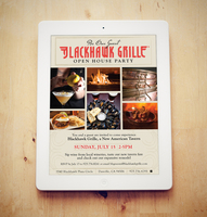Event invitation blackhawk grille