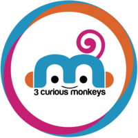 3 Curious Monkeys logo