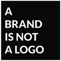 A Brand Is Not A Logo logo