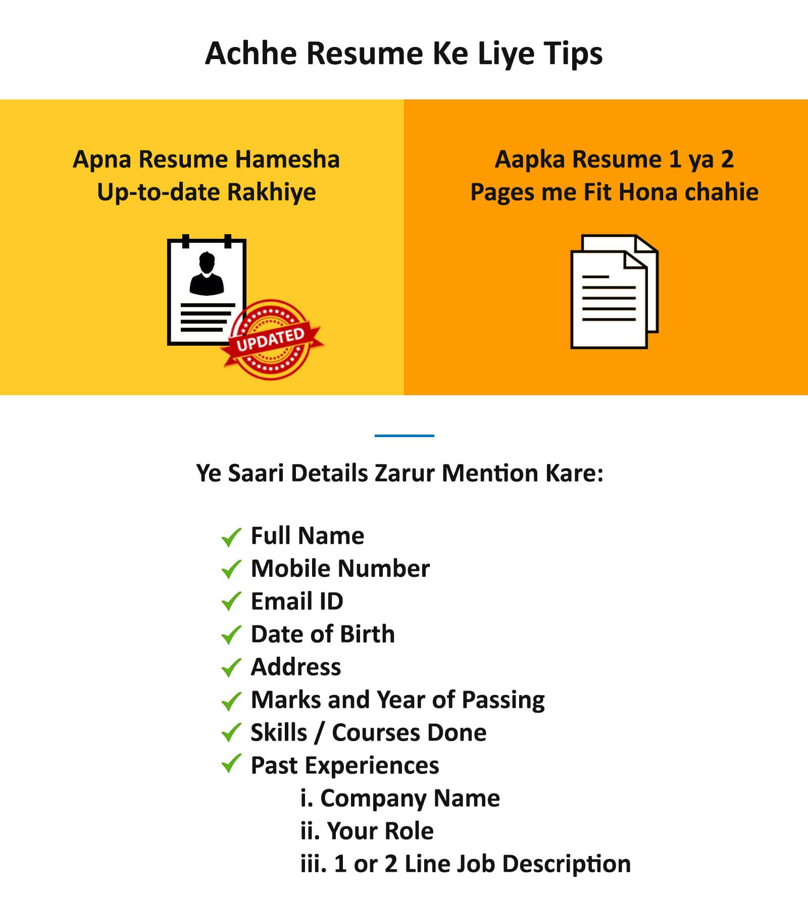 How To Make Resume For Job Interview Tips And Advice Workindia