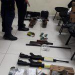 Armas y drogas decomisadas