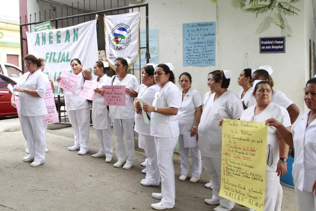 Enfermeras en combate contra el covid honduras