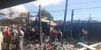 Incendio en el mercado Zonal Belén