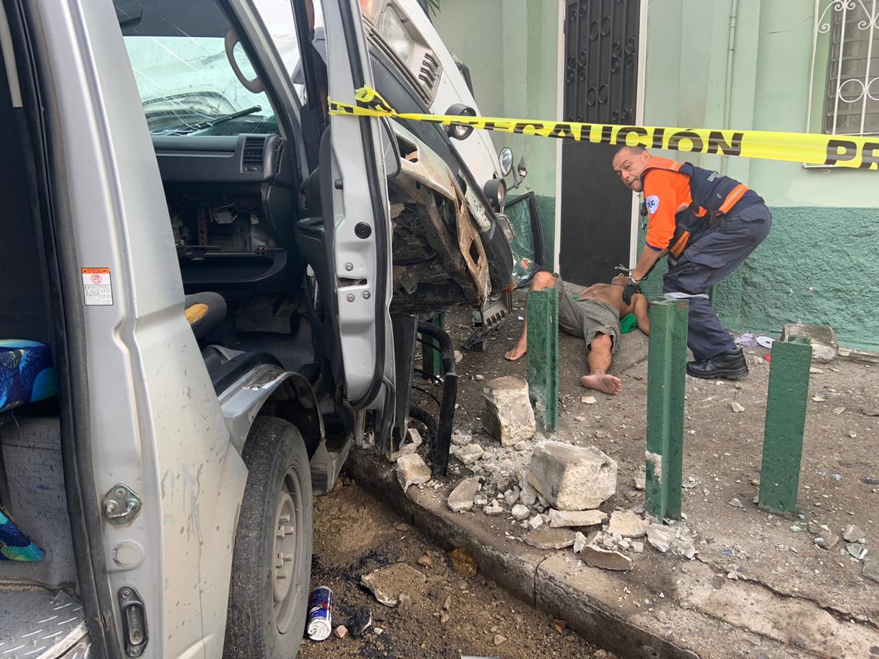 Encontronazo vial deja cinco personas lesionadas en San Pedro Sula