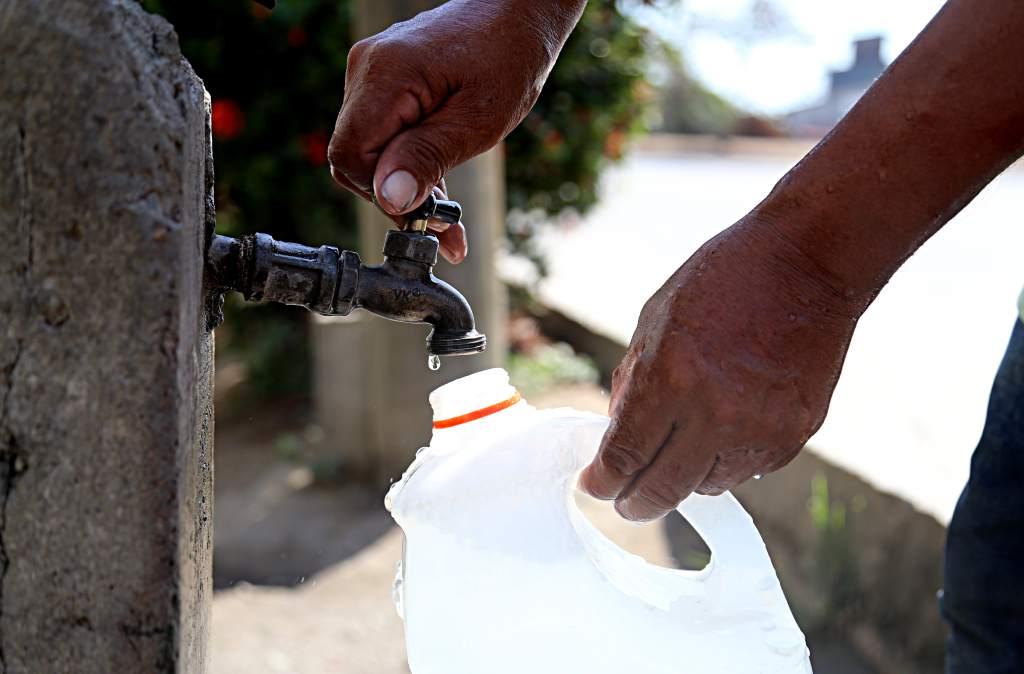 Escasez agua en la capital