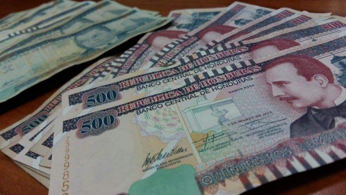 Circulación de billetes en Honduras