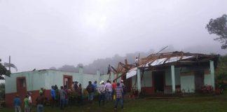 Casas dañadas en Honduras