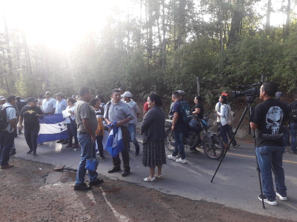 Protestas en La Tigra