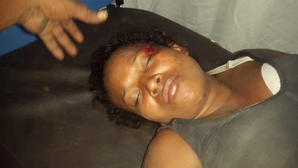 La dama resultó con heridas