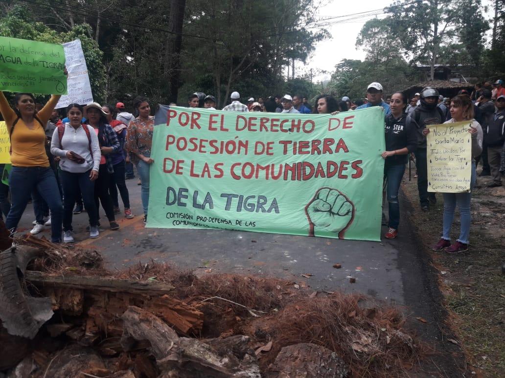 En imágenes protestas en contra de proyecto habitacional en La Tigra
