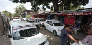 Sector taxi en Honduras.