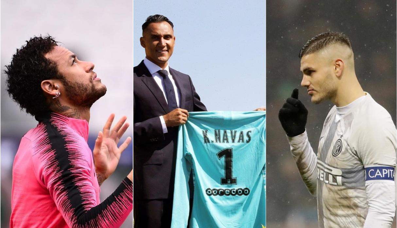 Neymar, Keylor e Icardi, listos