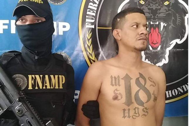 Capturan a supuesto jefe de la pandilla 18