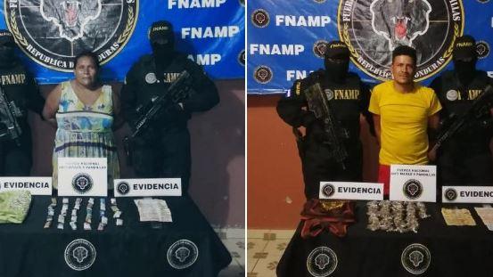 Capturan a dos supuestos distribuidores de droga en Choluteca
