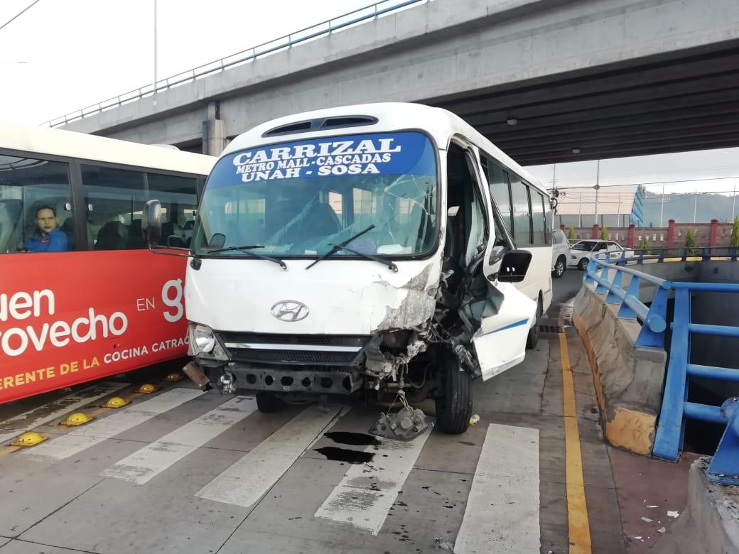 Accidente vial en la capital.