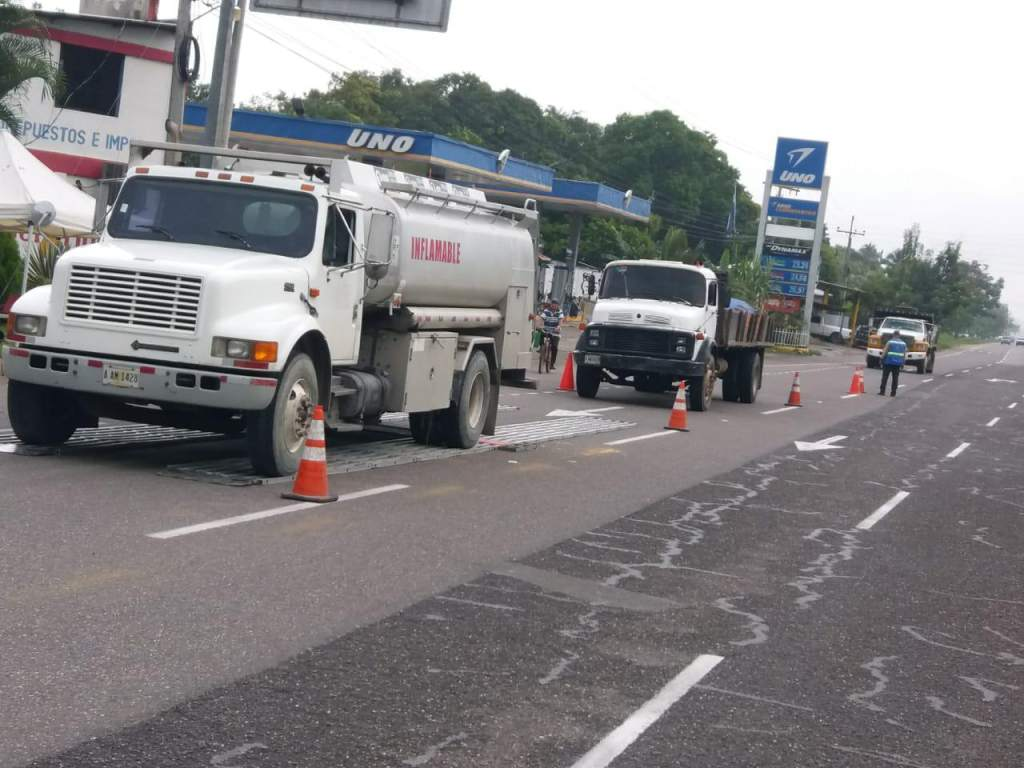 El control de transporte de combustible y sustancias peligrosas está bajo la responsabilidad del IHTT y Bomberos