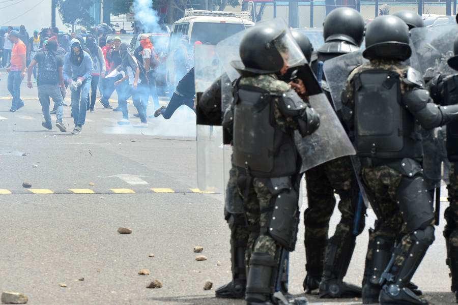 Disturbios en Honduras.