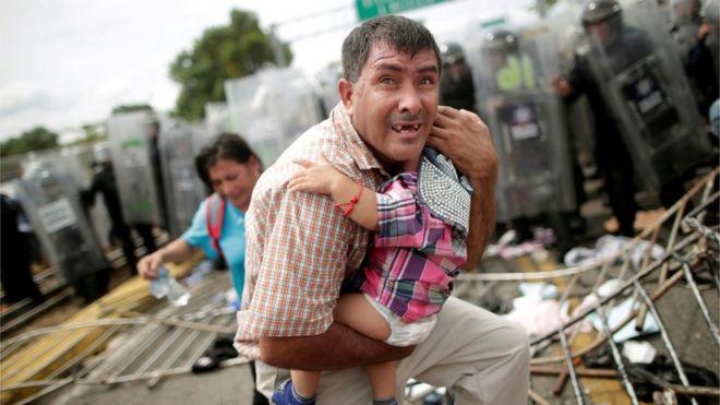 Migrantes secuestrados en Honduras.