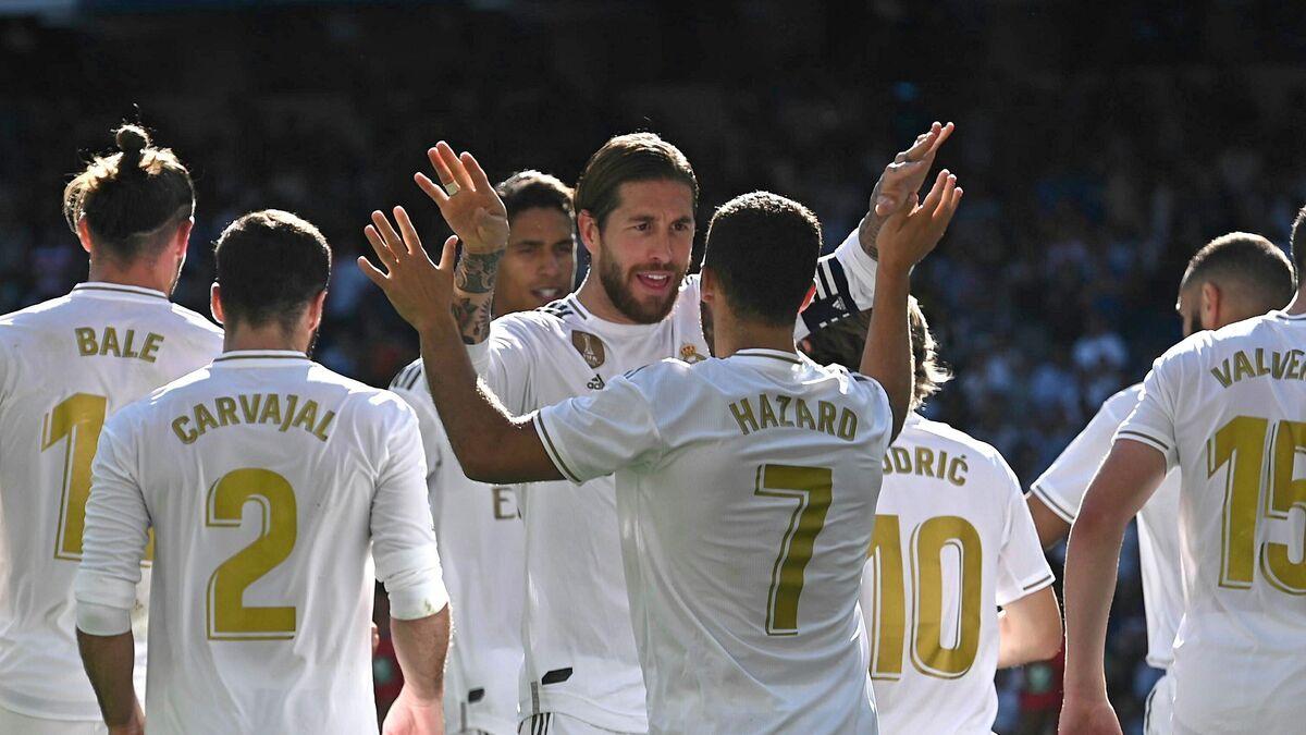 Hazard anotó en el triunfo del Madrid