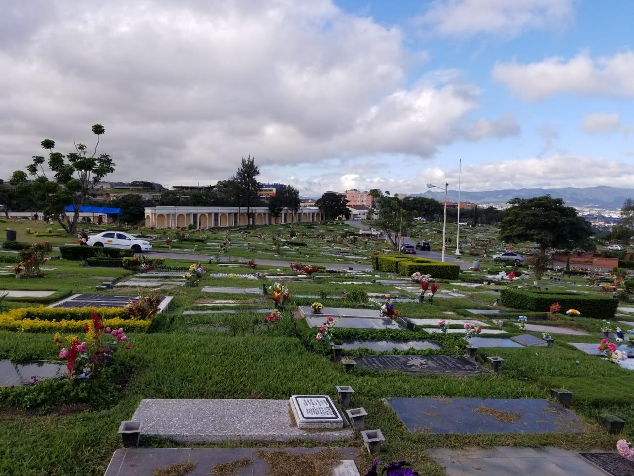 Imagen panorámica de un cementerio