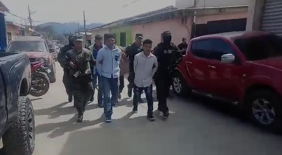 Detenidos en Honduras.