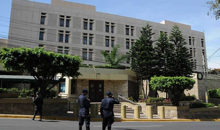 Este lunes estará cerrada la embajada de Estados Unidos en Honduras