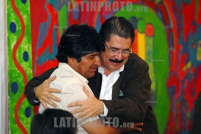 Manuel Zelaya y Evo Morales.