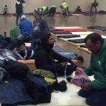 Migrantes rescatados.