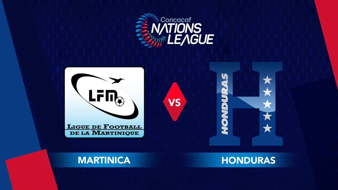 La Selección de Honduras empata 1-1 ante Martinica y corta la racha de triunfos en la Liga de Naciones Concacaf