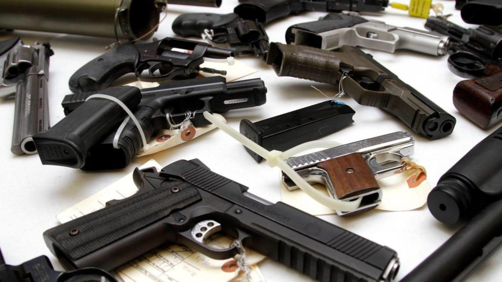 Decomiso de armas de fuego.